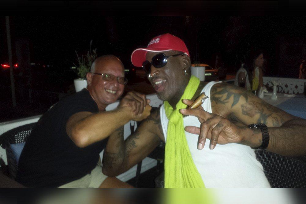 Leonard F, Yankelovich partying with Dennis Rodman